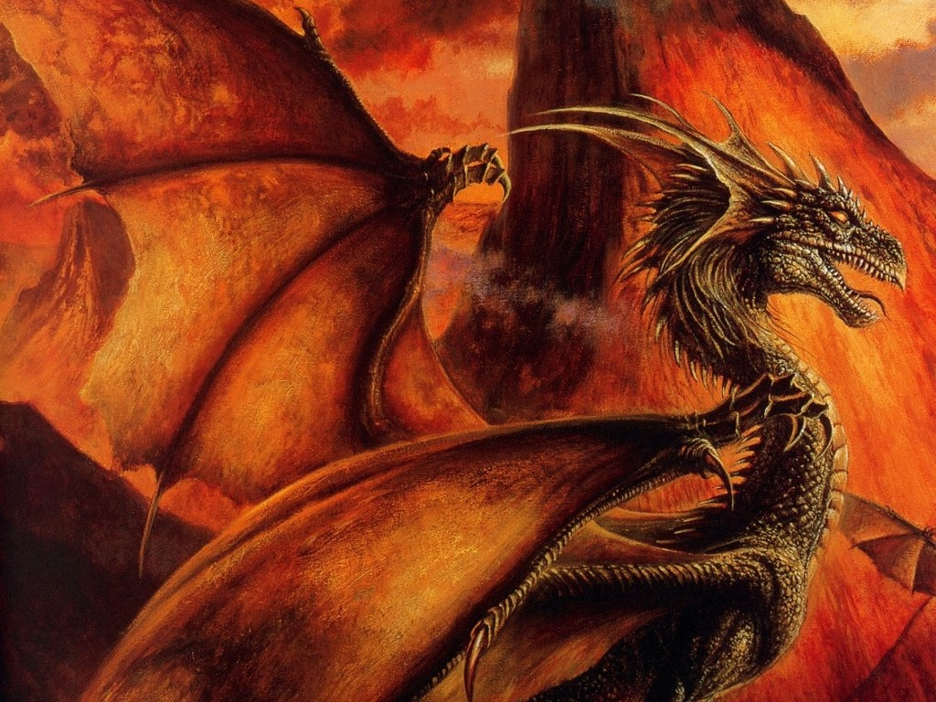 video of dragons with fire