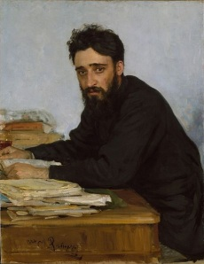 Portrait of Vsevolod Mikhailovich Garshin by Ilya Repin