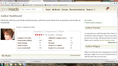 my goodreads stats