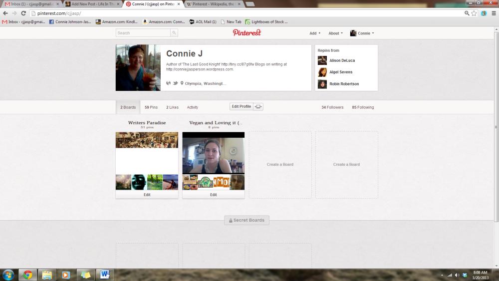 Branding Yourself day 4 - Pinterest, Wattpad, YouTube, Oh, My!  (2/6)