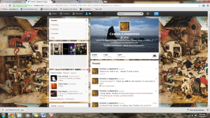my twitter page