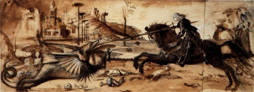 St._George_and_the_Dragon John Ruskin [Public domain], via Wikimedia Commons