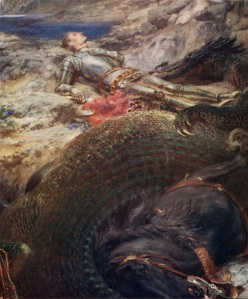 St._George_and_the_Dragon_-_Briton_Riviere Briton Rivière [Public domain], via Wikimedia Commons
