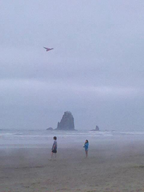 Amaranthus and Savvy at the needles by haystack rock cannon beach 2012