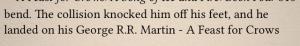 George R.R.Martin formatting issue 2 via book blog page views, margaret eby