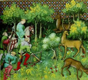 Medieval_forest wikimedia commons PD 100 yrs