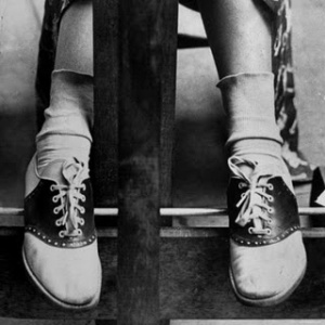 alfred-eisenstaedt-college-coed-sporting-ubiquitous-saddle-shoes from Life Magazine