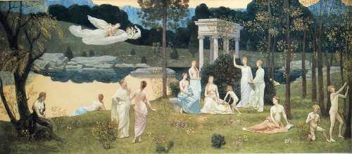 Arts and the Muses by Pierre Puvis de Chavannes, 1884-1889