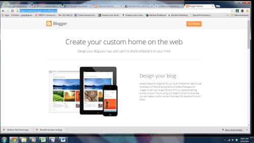 blogger screen 1