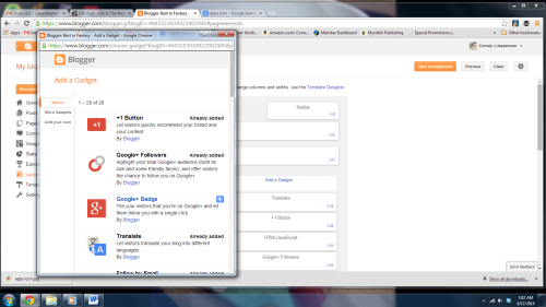 Blogger screen 10