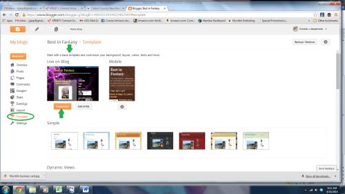 Blogger screen 2