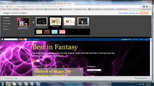 Blogger screen 3