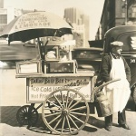 Early hot dog merchant,  1936 by Berenice Abbott courtesy EphemeralNewYork.wordpress.com