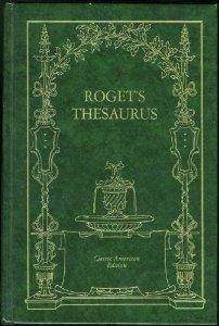 Roget's Thesaurus 1st edition
