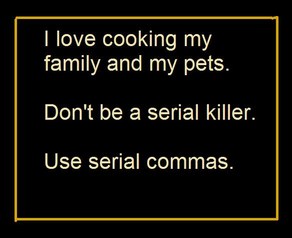 use a comma