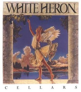 White Heron winery label