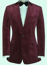 purple velvet blazer