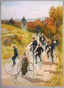 640px-Bicycling-ca1887-bigwheelers