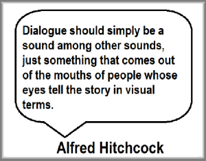 Alfred Hitchcock quote re dialogue