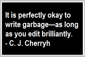 ok to write garbage quote c j cherryh