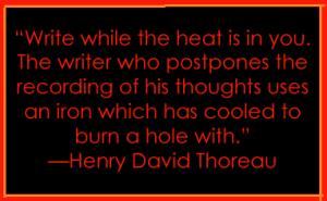 write-henry david thoreau quote