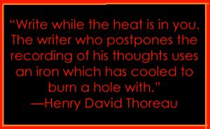 write-henry david thoreau quote