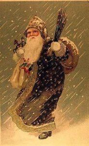 santa in snow storm