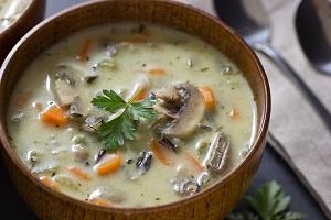 http://ohmyveggies.com/recipe-creamy-wild-rice-mushroom-soup/