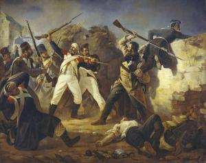 Feat of the grenadier of leib-guards Finnish regiment Leontiy Korennoy in the battle of Leipzig at 1813