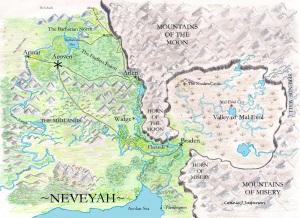 Map of Neveyah, color copy