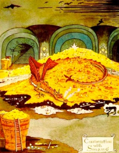 A conversation with Smaug by J.R.R. Tolkien