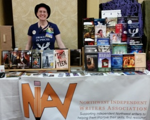 Lee French at Norwescon 2015 in NIWA Booth