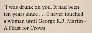 George R.R.Martin bormatting issue 4 via book blog page views, margaret eby