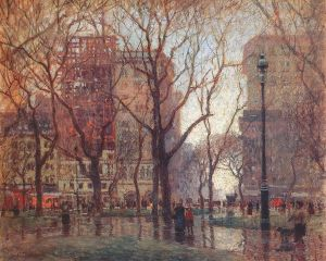 paul cornoyer rainy day in madison square