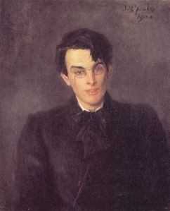 William Butler Yeats, painted by his father, John Butler Yeats, 1900