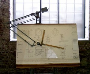 Drafting Table, courtesy Wikimedia Commons {PD GNU Free}