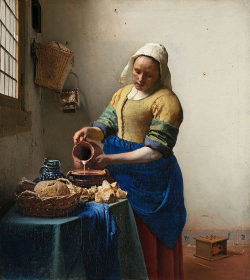 The Milkmaid, Johannes Vermeer, via Wikimedia Commons