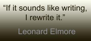 leonard elmore quote