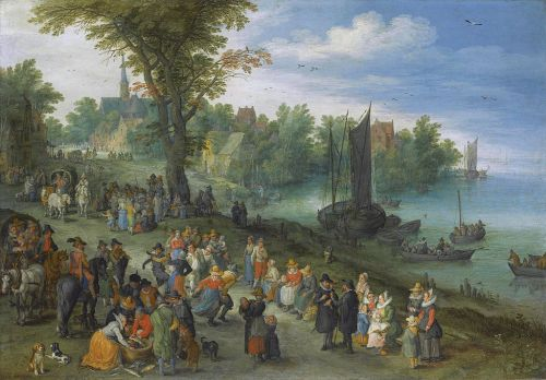 People_dancing_on_a_river_bank_by_Jan_Brueghel_the_elder
