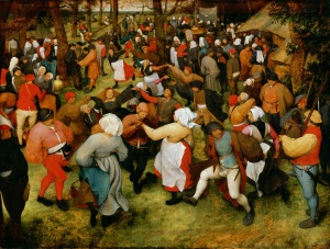 The Wedding Dance, c.1566 (oil on panel) by Bruegel, Pieter the Elder (c.1525-69)