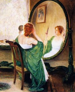 The Green Mirror, by Guy Rose PD|80 via Wikimedia Commons