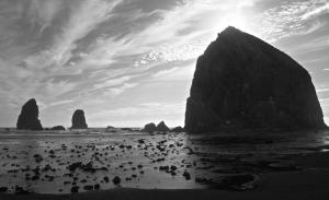 Haystack_rock_monochrome