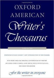 ozford american writers thesaurus