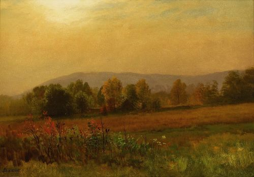 Albert Bierstadt - Autumn Landscape PD|100 via Wikimedia Commons