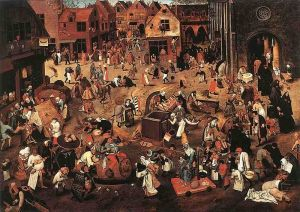 The Battle of Carnival and Lent, Pieter Bruegel the Elder