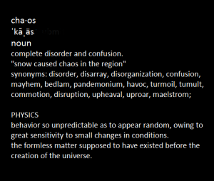 Chaos definition