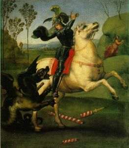 St. George and the Dragon, Raphael via Wikimedia Commons