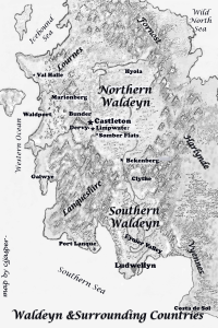 map of Waldeyn 2015 with lettering cooper black copy