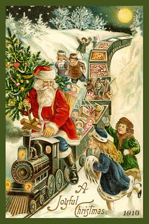 Vintage Christmas Card 1910