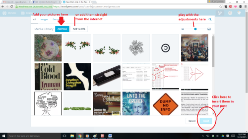 WordPress new format screenshot insert images 2